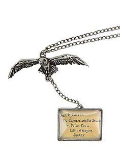 "<p>Burnished silver tone chain from <i>Harry Potter</i> with owl & Hogwarts acceptance letter pendant designs.</p>  <ul> <li>18"" chain</li> <li>Base metal</li> <li>Imported</li> </ul>"
