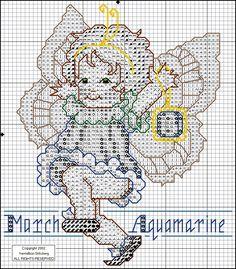 Birthstone Fairies - March - Aquamarine