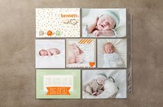 Stampin' Up! - Scrapbooking and Design Software - Tools - Kits Baby Scrapbook Pages, Project Life Scrapbook, Project Life Layouts, Baby Boy Scrapbook, Pocket Scrapbooking, Scrapbooking Ideas, Scrapbook Layouts, Baby Shower Cards, Baby Cards