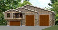 PDF house plans, garage plans, & shed plans. Garage To Living Space, Garage Guest House, Rv Garage, Garage Floor Plans, Small House Floor Plans, Minimalist House Design, Tiny House Design, Building A Pole Barn, Carriage House Plans