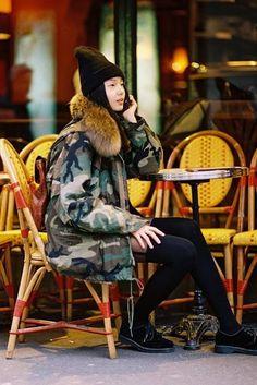 Fur army jacket