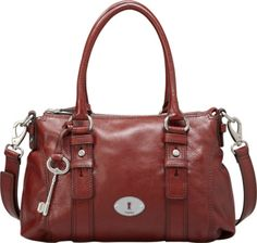 410b0ac92900 Fossil Leather Maddox Satchel in Brick Red Carteras
