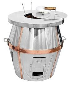 A clay pot is fitted in a S.S Square Tank of 304 Grade. Four Handles (collapsible type) are provided lifting, pushing and pulling. A Stainless Steel Panel in the front is provided to conceal gas assembly. Commercial Kitchen, Commercial Design, Tandoori Restaurant, Bbq Pit Smoker, Tandoor Oven, Stainless Steel Panels, Steel Drum, Japanese Tea Ceremony, Restaurant Equipment