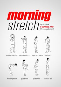 Morning workout - Morning Stretch Workout by DAREBEE fitness workout darebee wednesdaymotivation – Morning workout Fitness Workouts, Gym Workout Tips, At Home Workout Plan, Fun Workouts, At Home Workouts, Yoga Fitness, Physical Fitness, Easy Daily Workouts, Workout Plans