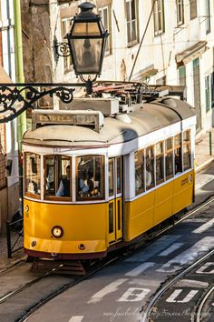 O eléctrico n.º 28 de Lisboa / Tram n.º 28 in Lisbon Visit Portugal, Portugal Travel, Spain And Portugal, Lisbon Tram, Tramway, Portuguese Culture, S Bahn, Train Tracks, Algarve