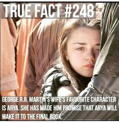 Hallelujah! BLESS Mrs. George RR Martin! // Arya Stark // Game Of Thrones // Maisie Williams