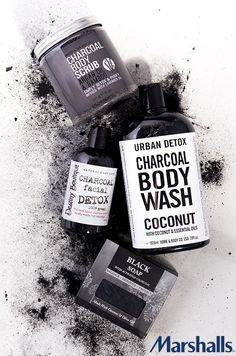 4 ways to bring charcoal into your beauty routine! Detox and purify skin with charcoal body scrub — infused with lavender oil! Give yourself a charcoal facial — this cleanser works to unclog pores and remove dead skin cells. Start your day lathering with charcoal body wash. You'll love the coconut and essential oils. Or go for the deep-cleansing black bar soap. This skincare powerhouse gently exfoliates and calms troubled skin. Visit Marshalls today to find the perfect charcoal products for…