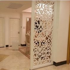 BuyToMe Shop Customized European-style hollow screen wind off the partition carved flower floor living room background wall modern partition wall living room Living Room Background, House Design, Room Design, Decor, House Interior, Living Room Decor, Home, Living Room Designs, Modern Partition Walls