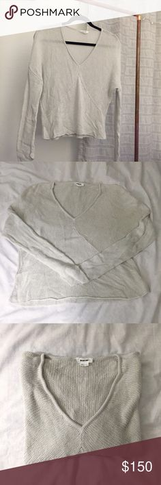 Helmet Lang Sweater ❤️ Pre-loved ❤️ good condition. Color is light dove grey. Hard to capture in pictures. Open to offers Helmut Lang Sweaters V-Necks