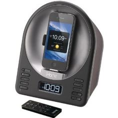 IHOME Product-IHOME iA63BZ iPod/iPhone App-Enhanced Alarm Clock FM Radio Stereo Speaker System with Motorized Rotating Dock by iHome. $80.00. COMPATIBLE WITH IPHONE(R) & IPOD(R) MODELS WITH A 30-PIN DOCK CONNECTOR; MOTORIZED ROTATING DOCK CHARGES & PLAYS IPHONE(R) OR IPOD(R) WHILE DOCKED FOR LANDSCAPE OR PORTRAIT MODE; WORKS WITH IHOME(R)+SLEEP & IHOME(R)+RADIO APPS; WAKE OR SLEEP TO IPHONE(R), IPOD(R) OR APP ALARMS; RESON8(R) SPEAKER CHAMBERS DELIVER PURE, CRISP AUDIO; ST...