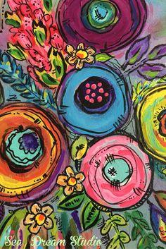 Original art in acrylics by Sea Dream Studio.
