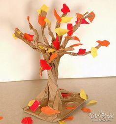 Kese kağıdından ağaç yapımı