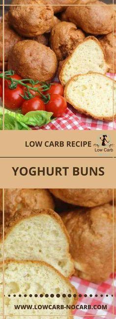 Low Carb Yogurt Buns are delicious replacement for normal buns - Düşük karbonhidrat yemekleri - Las recetas más prácticas y fáciles Keto Foods, Healthy Low Carb Recipes, Healthy Baking, Keto Recipes, Induction Recipes, Baking Recipes, Soup Recipes, Salad Recipes, Keto Diet List