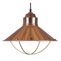 Inspired by nautical lanterns, these pendants are a beautiful addition to any kitchen. Available in warm copper finish, this pendant subtly complements sink fixtures and cabinet hardware.