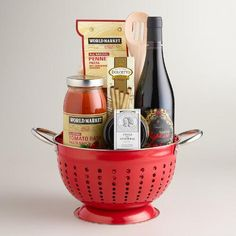 One of my favorite discoveries at WorldMarket com: A Taste of Italy Wine Basket Jar Gifts, Wine Gifts, Food Gifts, Craft Gifts, Coffee Gift Baskets, Wine Gift Baskets, Basket Gift, Holiday Gift Baskets, Themed Gift Baskets