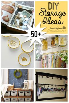 50 Plus Awesome DIY Storage Ideas @savedbyloves