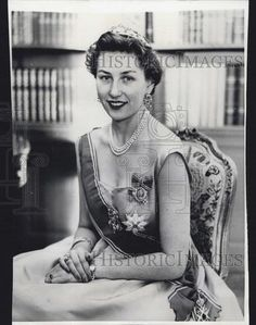 1957 Press Photo Princess Astrid of Norway - Historic Images