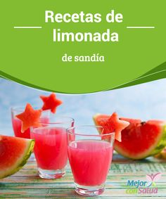 Watermelon Lemonade Recipes When it's hot we want to consume refreshing drinks. We can prepare juices and smoothies in a matter of minutes and with the ingredients that we have in the fridge or in the pantry. Smoothies, Smoothie Drinks, Watermelon Lemonade, Weight Watchers Breakfast, Healthy Juices, Refreshing Drinks, Tea Recipes, Cocktail Drinks, Cocktails