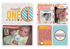 Everyday Life: It's a Girl Thing by Megan Turnidge and Tickled Pink Studio Layered Cards Baby 1 & 2 by Cindy Schneider Cut It Out Tags by Er...