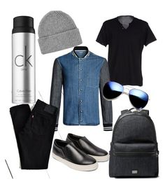 """""""Around the city2"""" by renicherie on Polyvore featuring Dondup, Levi's, COSTUME NATIONAL, Topman, Dolce&Gabbana, Calvin Klein, Revo, mens, men and men's wear"""