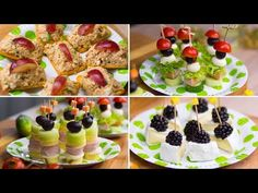 Delicious, exquisite and quick snacks for every occasion. Finger Snacks, Quick Snacks, Antipasto, Party Snacks, Nutella, Food And Drink, Appetizers, Cupcakes, Lunch