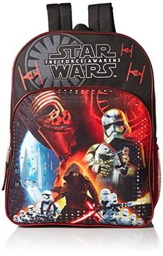 f15eef81e070 Star Wars Boys  Disney Multi Compartment 16″ Backpack