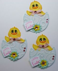 paper piecing easter | Easter Chick Paper Piecing Scrapbook,Card Embellishment