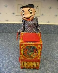 1952 Mattel Jack in the Box designed by Bob Routledge.