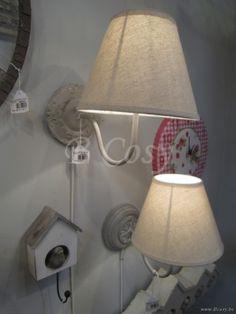 J-Line Landelijke wandlamp met lampenkap bloem h26
