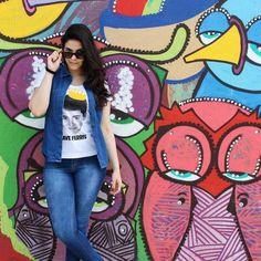 Nada melhor que curtir o famoso Beco do Batman vestindo Chico Rei igual a @jullyannarodrigues  #sp #streetart #BecoDoBatman by chicorei