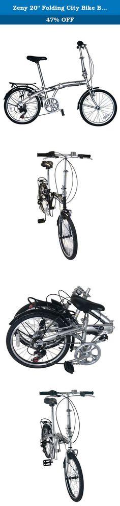 "Zeny 20"" Folding City Bike Bicycle 7 Speed Shimano Gear Steel Frame Mudguard Rear Carrier Commuter , Silver (Silver, 20""). Specifications: Shimano 7-speed shifter Shifters: Shimano RS35 frame: 20"" folding bike hi-tensile steel handle bars: retro alloy handlebar fork: hi-ten steel crank set: one piece steel chrome plated crank. Rear derailleur: Shimano rdtz 50 brakes: alloy v-brakes stem: alloy tall cool seat post: steel chrome spokes: stainless steel 14g. Rim: alloy black front/rear…"