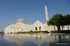 Beeindruckende Bilder aus Oman von der Bloggerin Gudrun von www.reisebloggerin.at: Die Sultan Quabos Moschee in Muskat