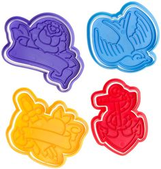 TOUGH COOKIES CUTTER $12.00  Tattoo inspired cookie cutters.