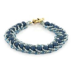 Petrol Spiral Bracelet - FREE instructions - Uses Flat Spiral Rope Technique...could make 3x for necklace.  Gorgeous!