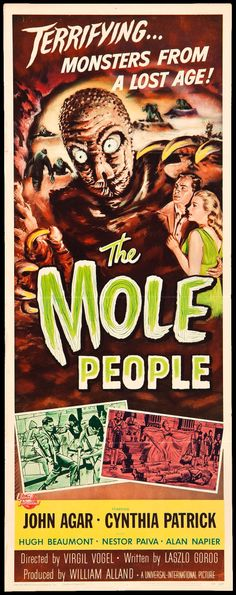 "The Mole People (Universal International, 1956). Insert (14"" X  36""). Science Fiction"