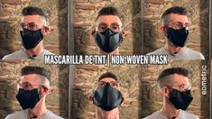 How to make a personal hygienic face mask using TNT fabric. by eometric sewing tutorials. Tapas, Youtube, Sewing Tutorials, Mens Sunglasses, Medical, Face, Womens Fashion, Fabric, How To Make