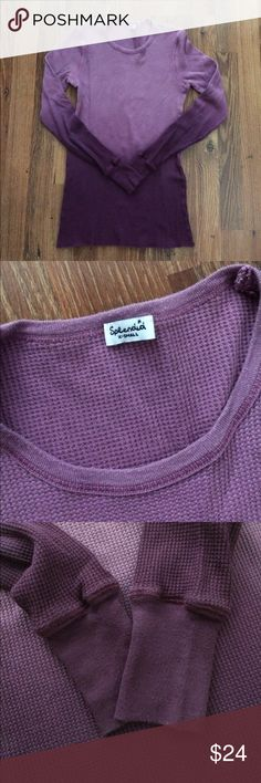 Splendid Ombré Thermal Preloved gorgeous Splendid thermal In ombré purple.  Some pilling only in the neckline piping and some on the cuffs.  Aside from that the top shows no wear! Super cozy and comfortable size XS Splendid Tops Tees - Long Sleeve