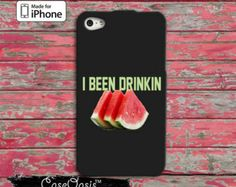 I Been Drinkin' Watermelon Beyonce Inspired Drunk In Love Pink Cute Music iPhone 4 and 4s Case and Custom iPhone 5 and 5s and 5c Case