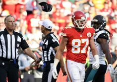Travis Kelce gets ejected from the game for throwing his towel at the official (for a no-call on pass interference).