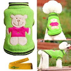 Cute Pet Sweater Knitted Turtleneck Knitwear Outwear for Dogs  Cats Green Extra Extra Small -- Click image for more details. (This is an affiliate link) #DogApparelAccessories