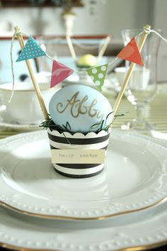 Easter Egg Placeholders for an Easter tablescape