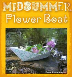 Midsummer Flower Boat by Tressabelle. A simple and fun midsummer activity for the kids and the young at heart :)