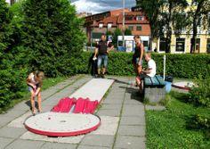Akerselva - Oslo. Christiania Minigolf Club. Europe Standard Arena (18 hinders).