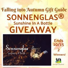 Ogitchida Kwe's Book Blog : The SonnenGlass Sunshine In A Bottle #Giveaway