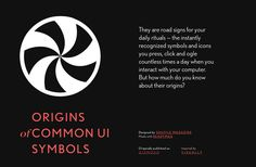 'Origins of Common UI Symbols' by Shuffle | Readymag