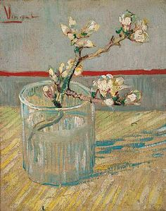 Van Gogh Museum - Sprig of Flowering Almond Blossom in a Glass, 1888 Vincent van Gogh (1853-1890)