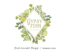 Custom logo-Fern Logo Foliage Logo. Logo with Leaves-Premade