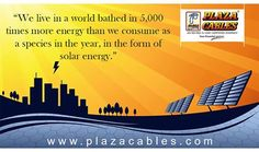 "The Best and Economical #Solar #Products range is here.  In ""Plaza"" we are continuously researching on new products for the betterment of Living good and pollution free life. Our Solar Products can be used in #Industry, #Home, #Hotel, #Hospitals, #Factory and even you think for your desired solar product and we have that in our Product bouquet. Contact us for more details Phone: +91 11 66369666, Toll Free: 180030005331 Email: info@plazacables.com Visit : www.plazacables.com"
