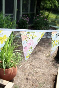 flags/bunting/banner made from vintage sheets