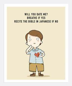 Will You Date Me Print A4 | Lingvistov